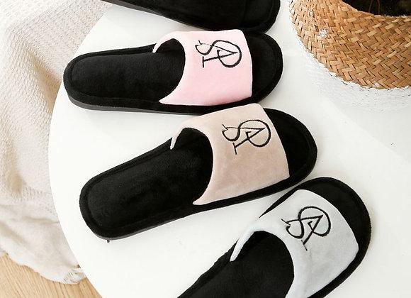 2021 Spring New Couple Home Floor Cotton Slippers Men's Home Non-Slip Fur Slippe