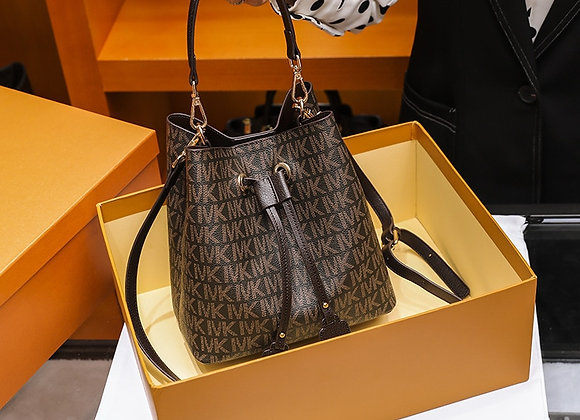 2020 New Luxury Fashion Drawstring Bucket Bag Shoulder Bag Women's Famous Brand
