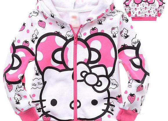Children Boys Girls Cartoon Cats Sport Hoodies T Shirt Outerwear Outwear Kids