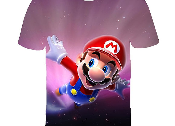 Cartoon Super Mario With Luigi Children Funny T-Shirt Baby Boys Girls 2021 Summ