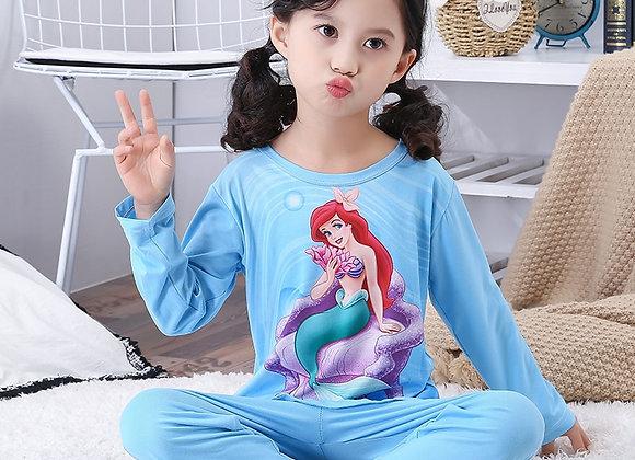 A%A1024 Cotton Girls Pajamas Sets Kids Princess Pajamas Children