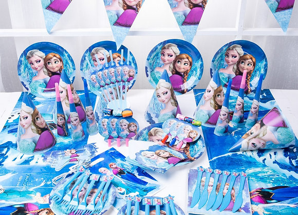 Frozen Party Blue Cartoon Characters Themes Disposable Cutlery Sets Napkins Pap