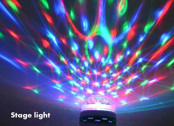 E27 Mini 3W 6W Colorful Auto Rotating RGB LED Bulb Housing Stage Light Party