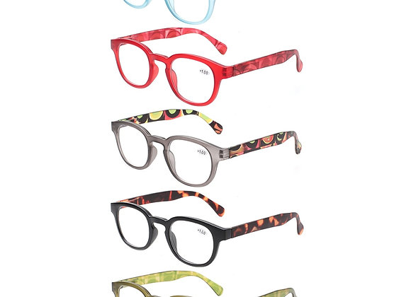 Fashion Printed Design Reading Glasses for Men and Women Spring Hinge Oval