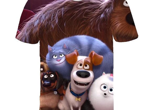 2021 Cute 3D Cartoon 4,5,7T Kids Clothes Girls Summer Short Printed Animal T-