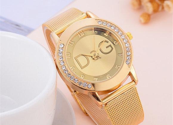 DQG Luxury Brand Women Watches Relogio Feminino Ladies Scrub Belt Watch