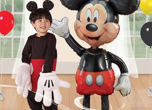 114cm Big Mickey Minnie Mouse Aluminum Balloon Cartoon Foil Children Birthday Pa