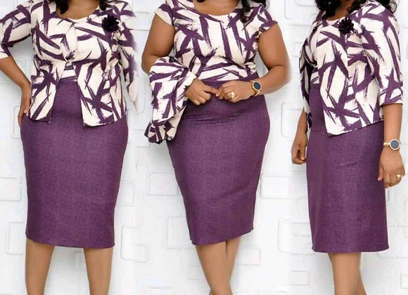 African Dresses for Women 2 Piece Suit Dashiki Print African Clothes Elegant