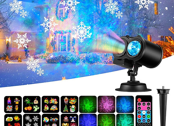 12 Patterns LED Disco Light Christmas Projector Lights Outdoor Party Lights Gard