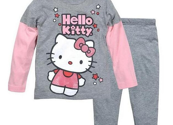 96&A%A  Cute Children's Autumn Pajamas Clothing Set Cartoon Girls Sleepwear Suit