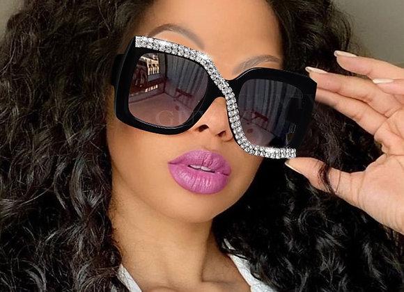 Diamond Square Sunglasses Luxury Vintage Oversized Sunglasses Unique One Pie