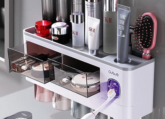 Bathroom Accessories Set Magnetic Adsorption Inverted Toothbrush Holder Automati