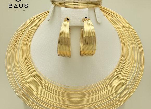 BAUS Eritrea Dubai Indian Arabic Gold Jewelry Set Ethiopian Gold Color Nigerian