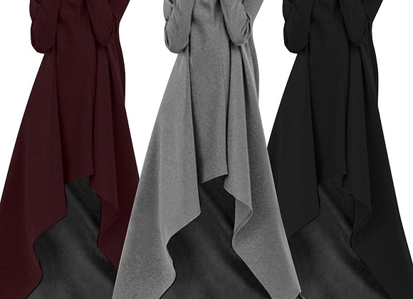 2021 ZANZEA Fashion Irregular Hoodies Vestidos Women's Autumn Pullovers Casual