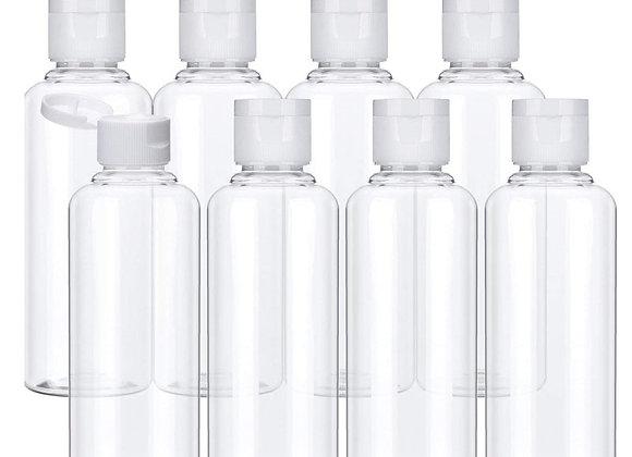 20Pcs Plastic Shampoo Bottles 10/30/50/60/100