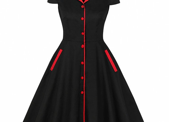3XL 4XL Plus Size Women Summer Vintage Cotton Dress  Rockabilly Big Size 5XL