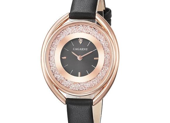 Bling Diamond Watch Women Minimalism Rose Gold Womens Quartz Watches Cagarny