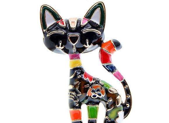 CINDY XIANG New Arrival Cute Enamel Paint Cat Brooch Unisex Women and Men