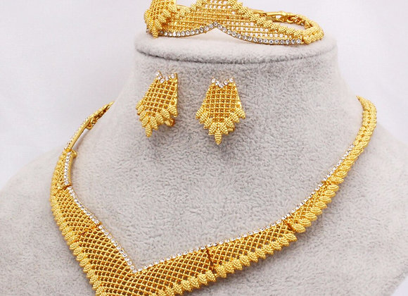 Dubai Gold Color Jewelry Sets Wedding Gifts for Women African Bridal Nigeria