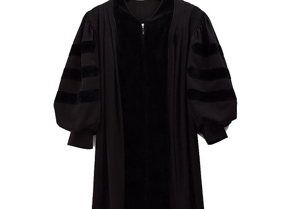 Adults Cleric Clergy Robe Black Pulpit Pastor Doctoral Gown