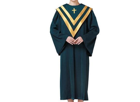 Christian Church Choir Clergy Robes Poetry Robe Drak Green  Holy