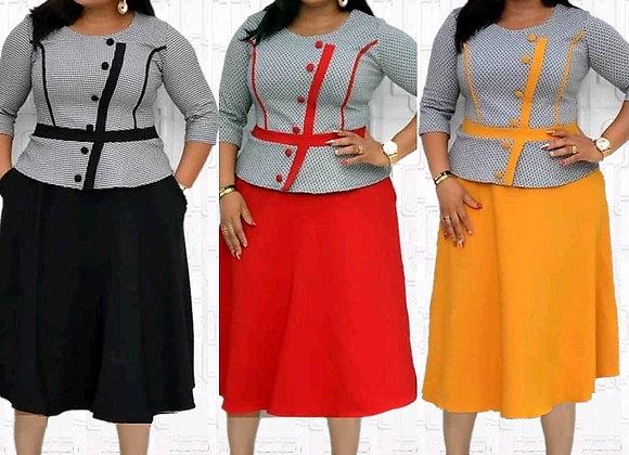 5XL 6XL Plus Size Christmas African Dresses for Women 2021 Elegant Lady Print