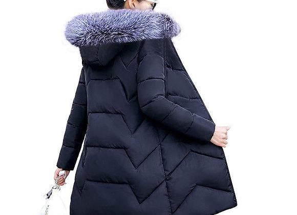 Big Fur Winter Coat Female Jacket New 2020 Hooded Parka Warm Winter Jacket