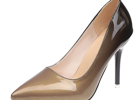 Aphixta 10cm Stiletto Heels Pumps Women Shoes Pointed Toe Patent Leather
