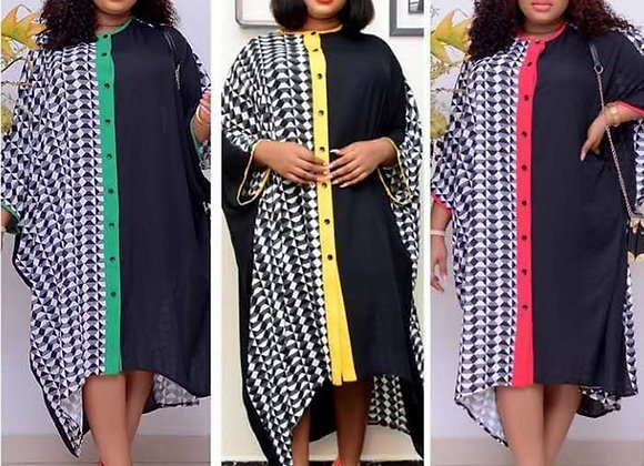 African Dresses for Women African Clothes Africa Midi Dress Dashiki Ladies Cloth