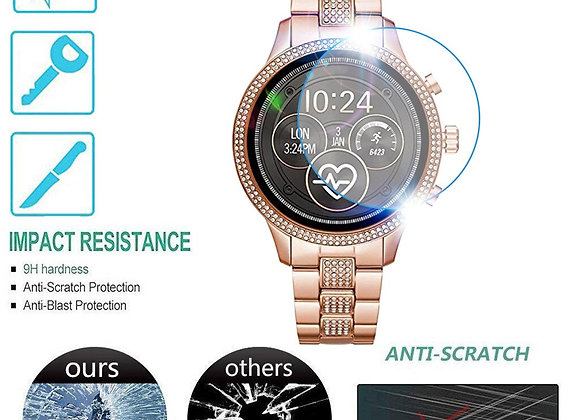 1PC Clear Film Tempered Glass Screen Protector for Michael Kors MKT5068 Watch