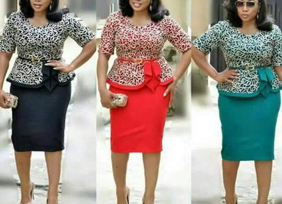 Elegant Fashion Style African Women Plus Size Dress L-3xl
