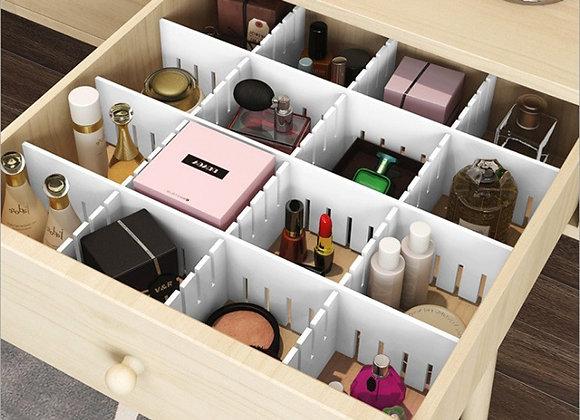 Adjustable Plastic Drawer Divider DIY Storage Shelves Household Free Combinat