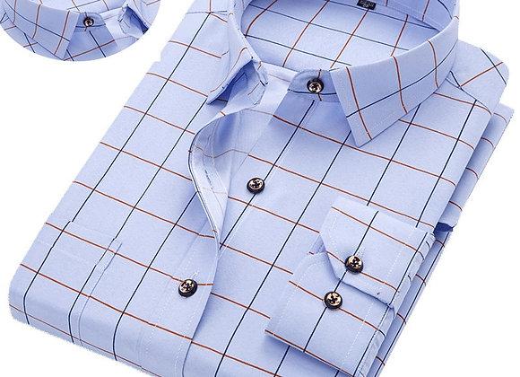 Fashion Hot Sale Men's Long-Sleeve Shirts Young Men's Slim Business