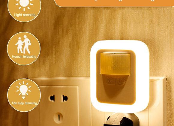 FENGRISE Wireless Motion Sensor LED Night Light EU US Plug Mini Square Night Lig