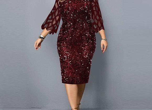 Dresses Sequin Plus Size Women's Dress 2021