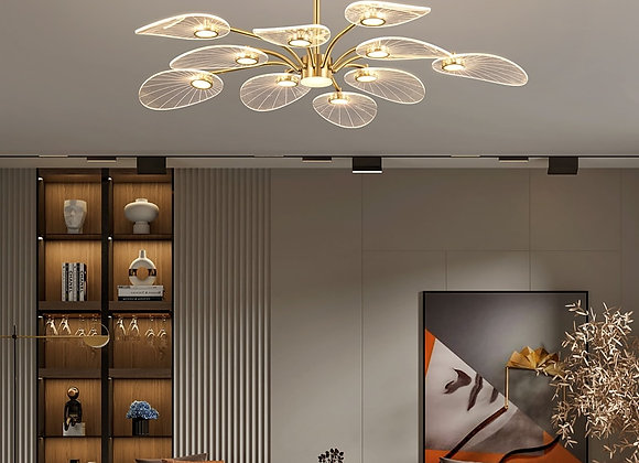 2021 Fuying Modern Nordic Luxury Chandelier LED Three Colors Dimming Living Ro