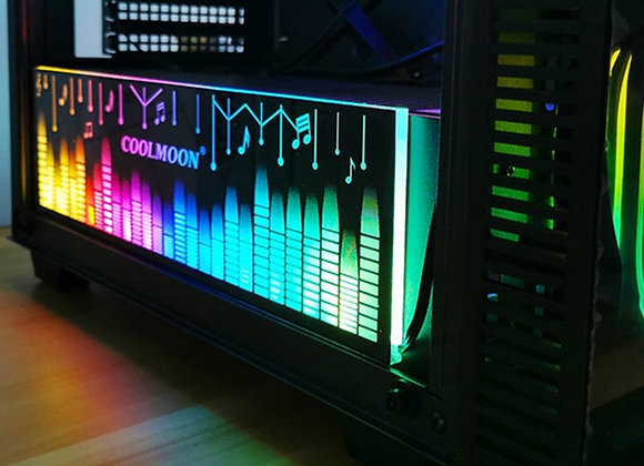 COOLMOON Power Warehouse Light Board RGB Color Changing LED Strip Use