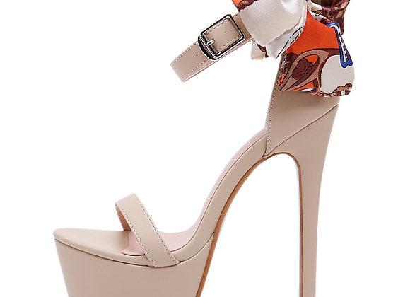 Aneikeh NEW Sexy 16cm Ultra High Heels Butterfly-Knot Sandals for Women Summer