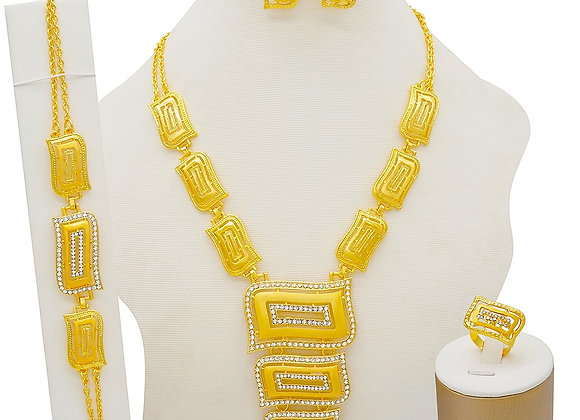 African Jewelry Sets Dubai Gold Color Nigeria Bridal Wedding Gifts