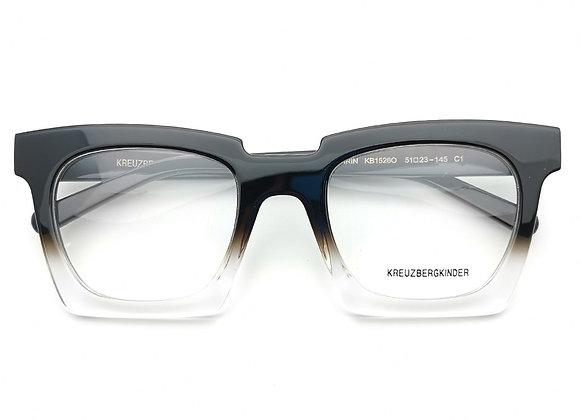 2020 Acetate Gradient Black Top Fashion Rectangular Eyeglasses