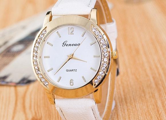 2018 New Brand Women Watches Quartz Watch Geneva Rhinestone Crystal Roman Lady