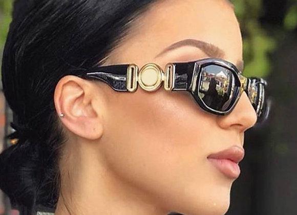 46535 Steam Punk Brand Designer Luxury Small Frame Sunglasses Men Women