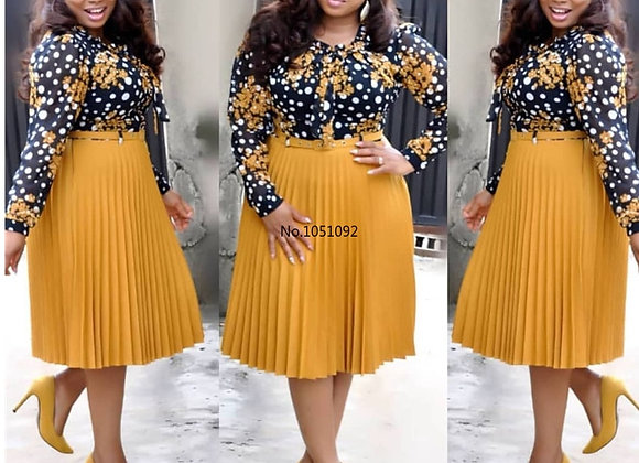 African Dresses for Women Printed Vetsidos Casual Midi Dress Africa Lady Clothes
