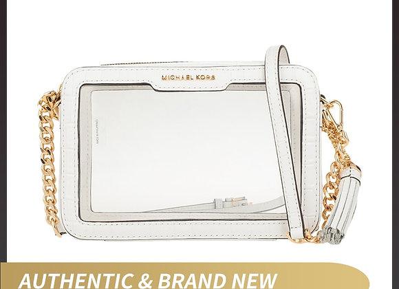Authentic Original & Brand New Luxury Michael Kors Ginny Medium Clear and PVC