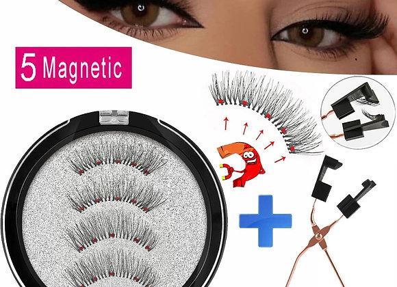 5 Magnets Magnetic Eyelashes, Makeup Eyelashes, Natural Magnetic Eyelash