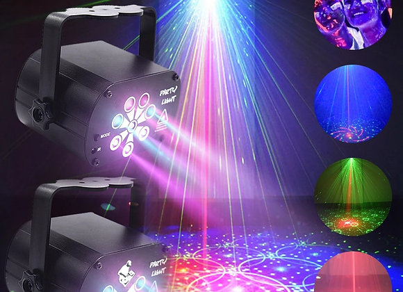 2021 New LED Stage Light Laser Projector Disco Lamp With