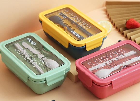 1100ml Microwave Lunch Box Portable 2 Layer Food Container Healthy Lunch