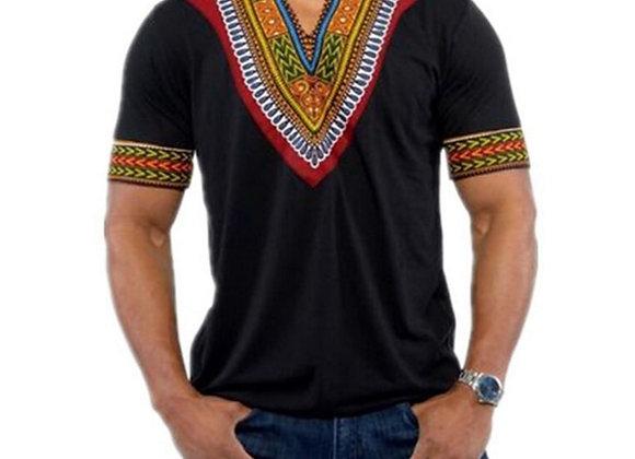6Color 2020 Fashion Summer Men Top African Clothing Africa Dashiki Dress Print