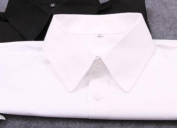 Fake False Collar Womens Blouse White Solid Cotton Detachable Collar Black Men