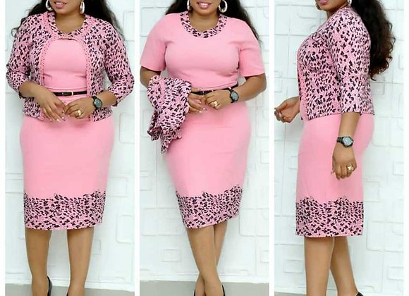 Fashion Style African Women Plus Size Knee-Length Dress XL-5XL